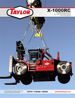 X-1000RC Heavy Duty Forklift Brochure