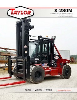 X-280M Heavy Duty Forklift Brochure