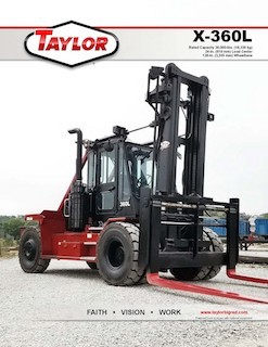 Taylor X-360L Brochure
