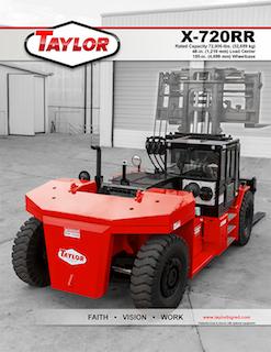 Taylor X-720RR Brochure