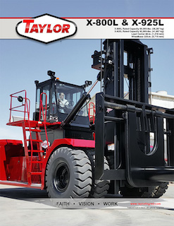 X-800L Heavy Duty Forklift Brochure