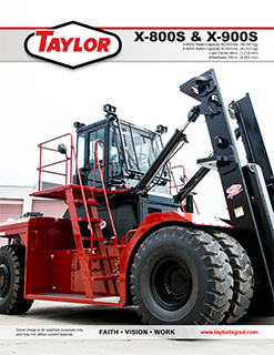 X-800S Heavy Duty Forklift Brochure