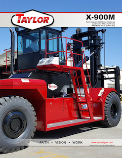 X-900M Heavy Duty Forklift Brochure
