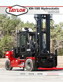 Taylor XH-180 Hydro Brochure