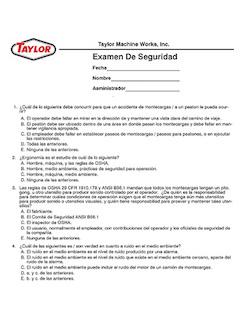 Spanish Safety Exam
