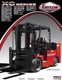 XC-350L Cushion Tire Forklift Brochure