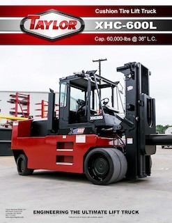 XHC-600L Cushion Tire Forklift Brochure