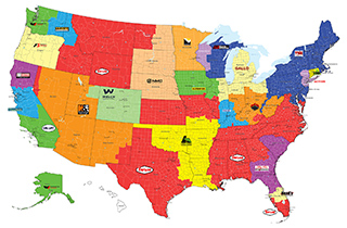 Taylor® Territory Maps - US