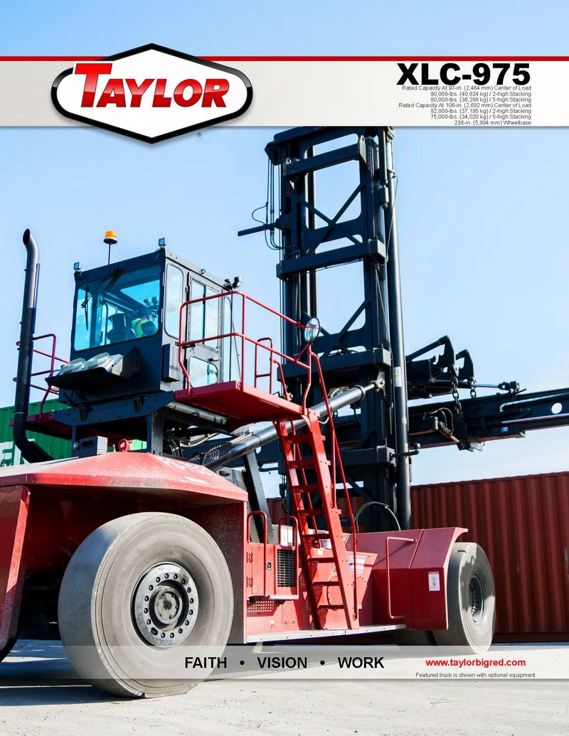XLC975 Loaded Container Handlers Brochure Cover