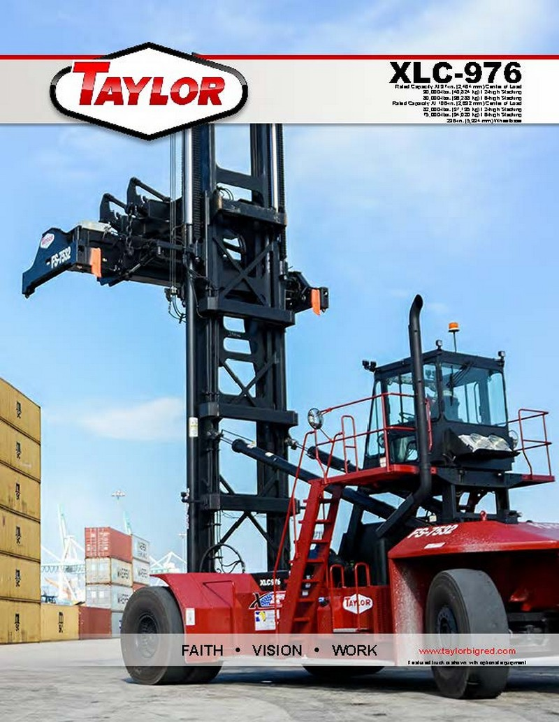 XLC976 Loaded Container Handlers Brochure Cover