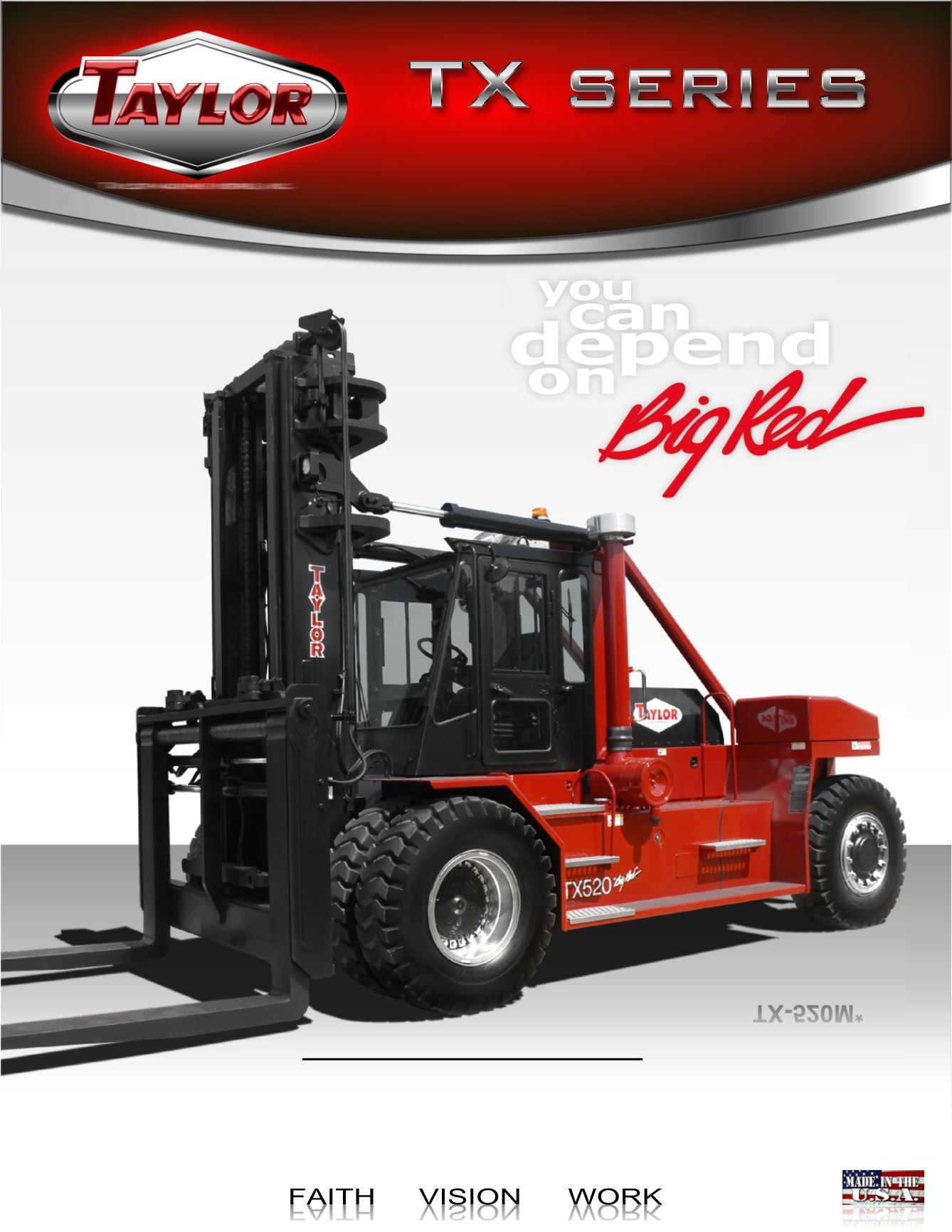 TX Series 36 and 48-in. Load Center Forklifts Brochure Cover
