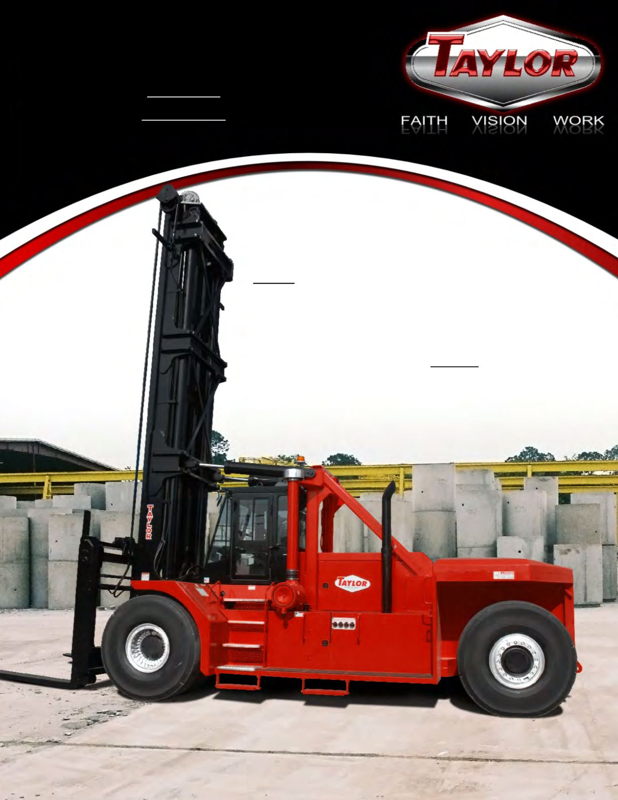 TX and TXH Series Large Capacity Forklift Brochure Cover