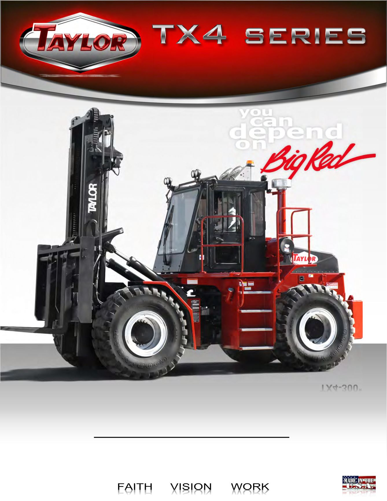 TX4 Series Articulated Forklifts Brochure Cover