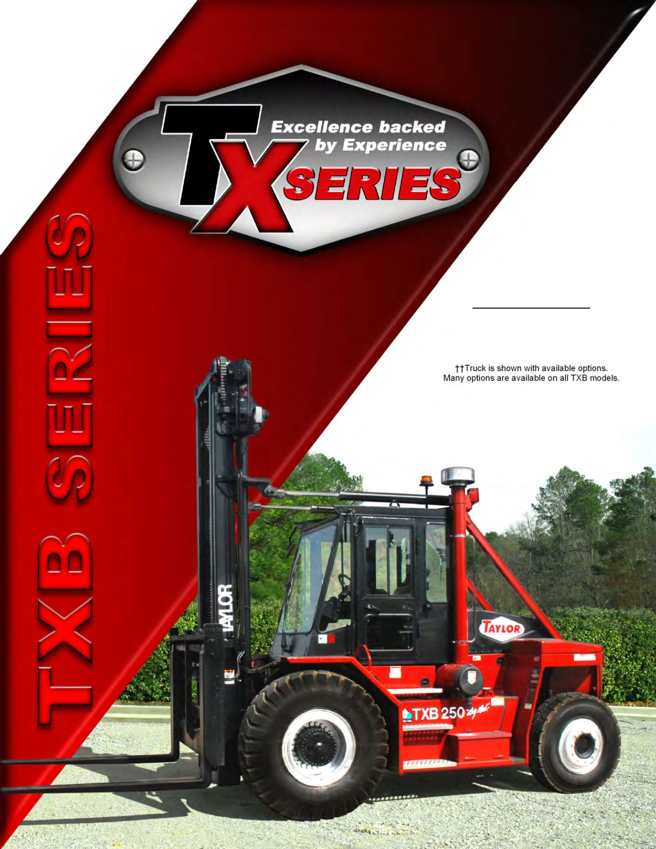 TXB Series Forklift Brochure Cover