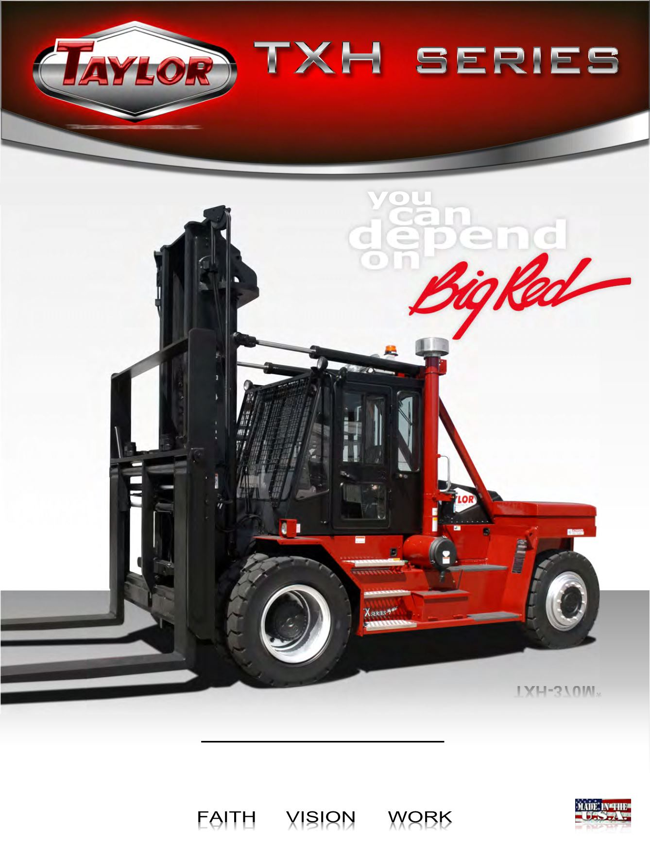 TXH Series Forklifts Brochure Cover